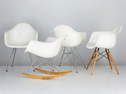 Seating comfort with a stunning appearance is provided by the Eames Plastic Chairs by Vitra