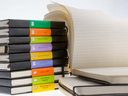 Selection of Moleskine's address books, notebooks and notepads