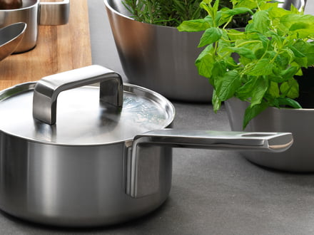 Cookware by top manufacturers such as Iittala