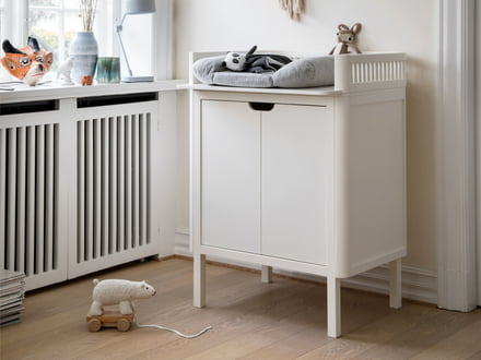 The Kili changing table by Sebra, shapely genuine birch wood