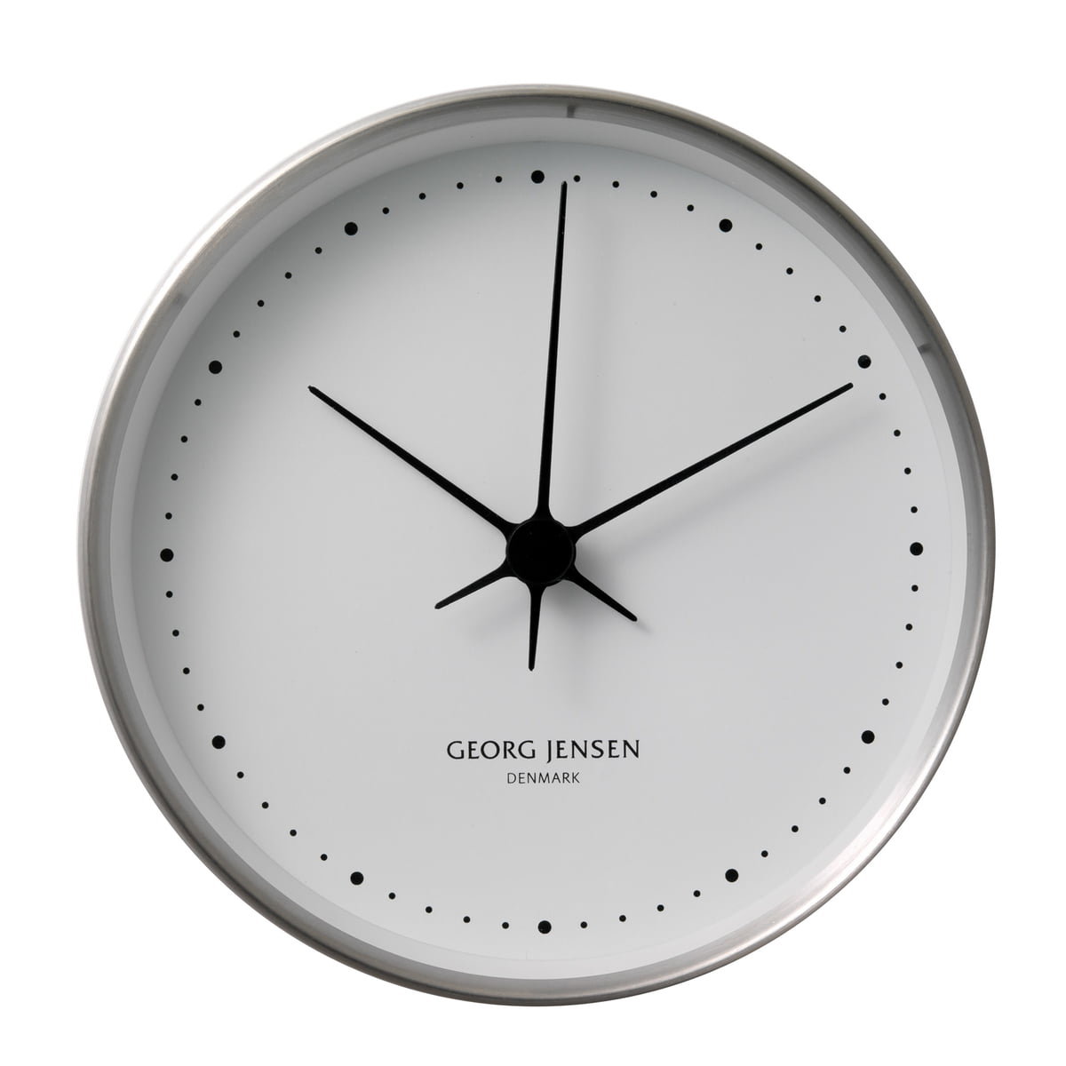 wall clock by henning koppel for georg jensen. Black Bedroom Furniture Sets. Home Design Ideas