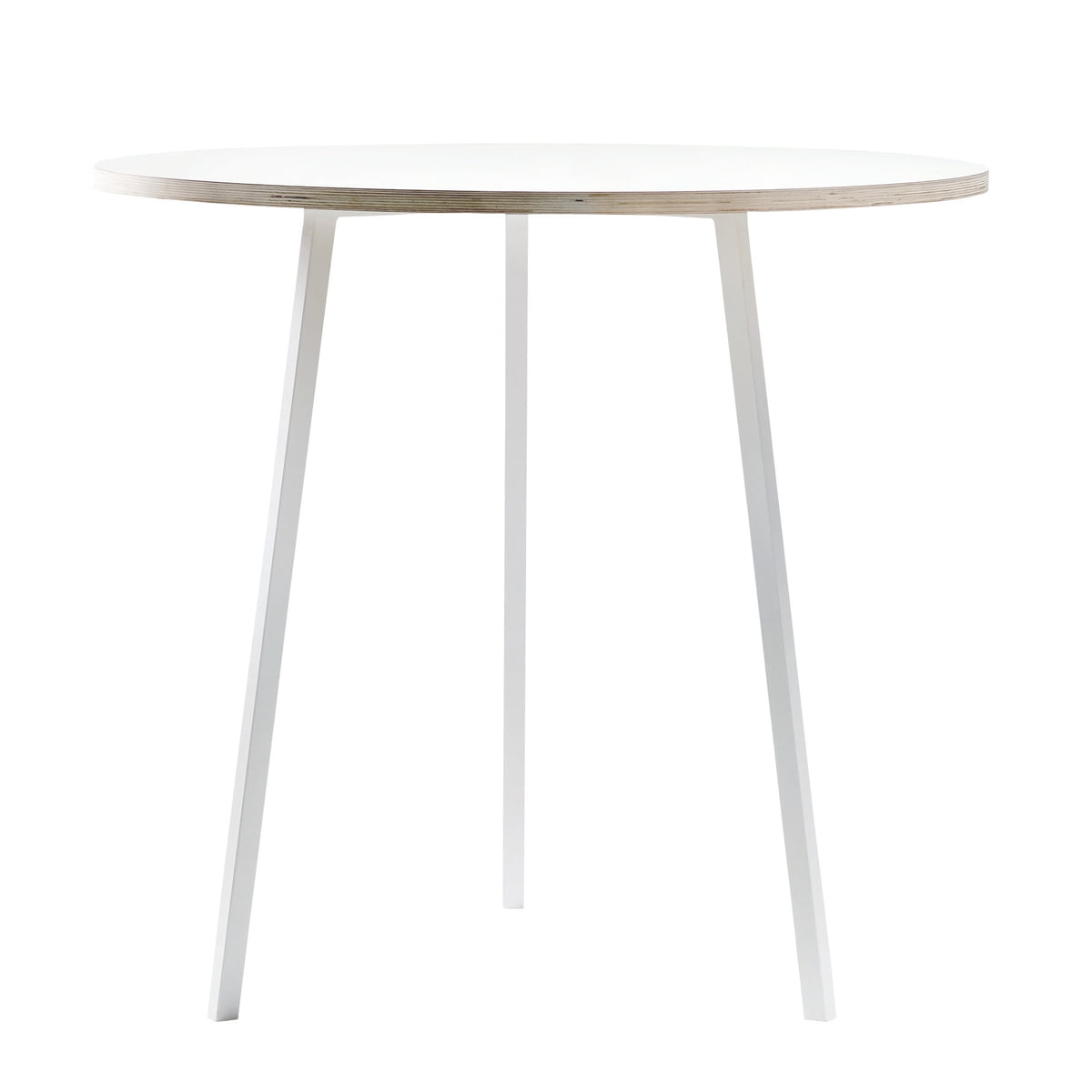Hay   Loop Stand Bistro Table, White