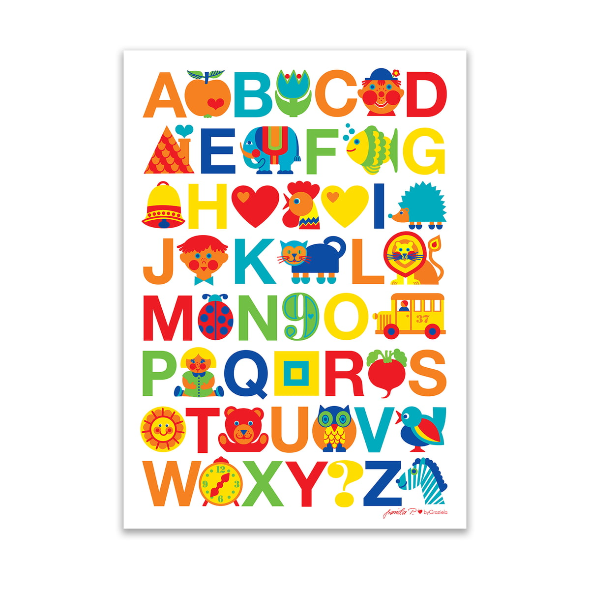Poster Abc By Bygraziela In The Interior Design Shop