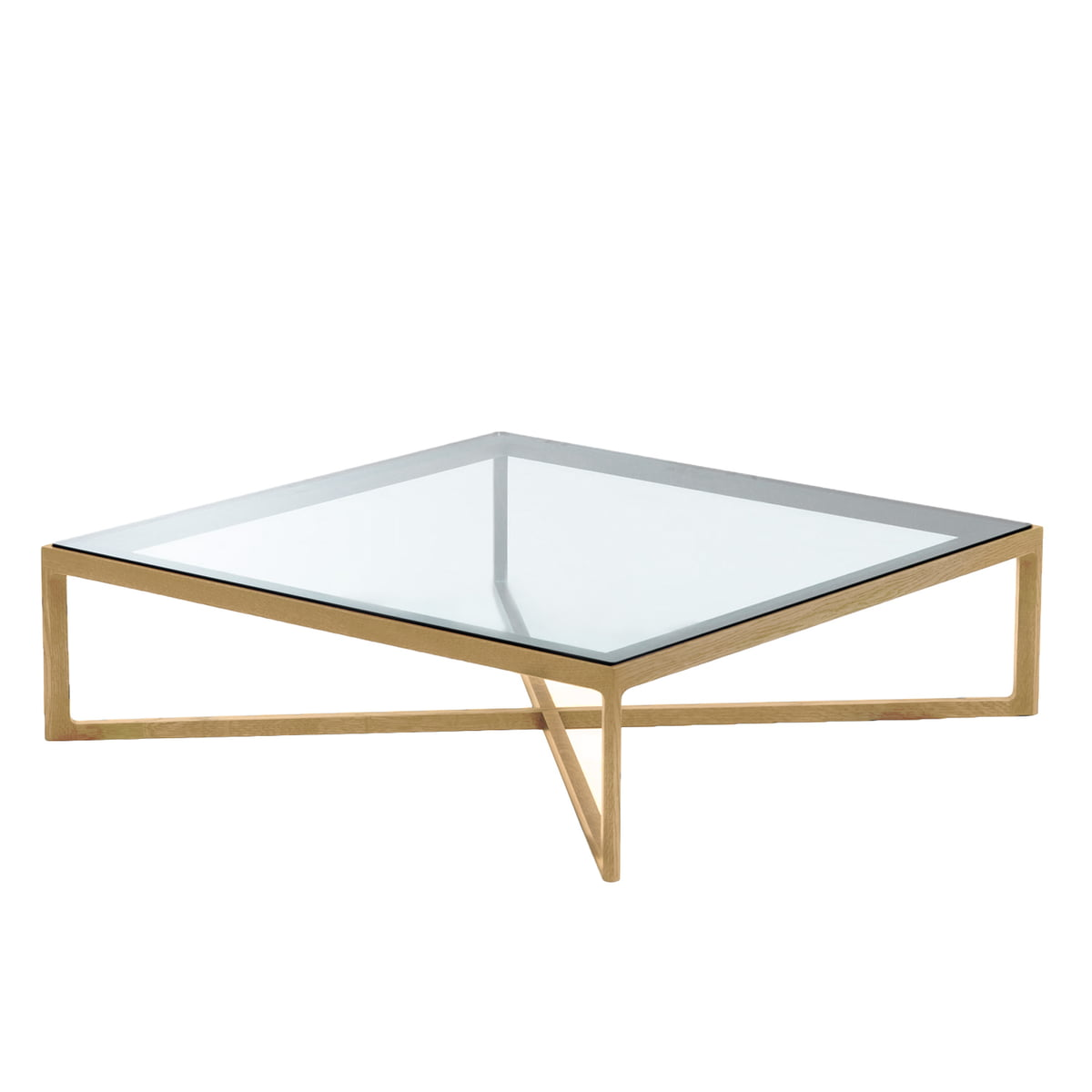 Marc krusin coffee table by knoll in the shop knoll coffee table oak glass surface geotapseo Choice Image