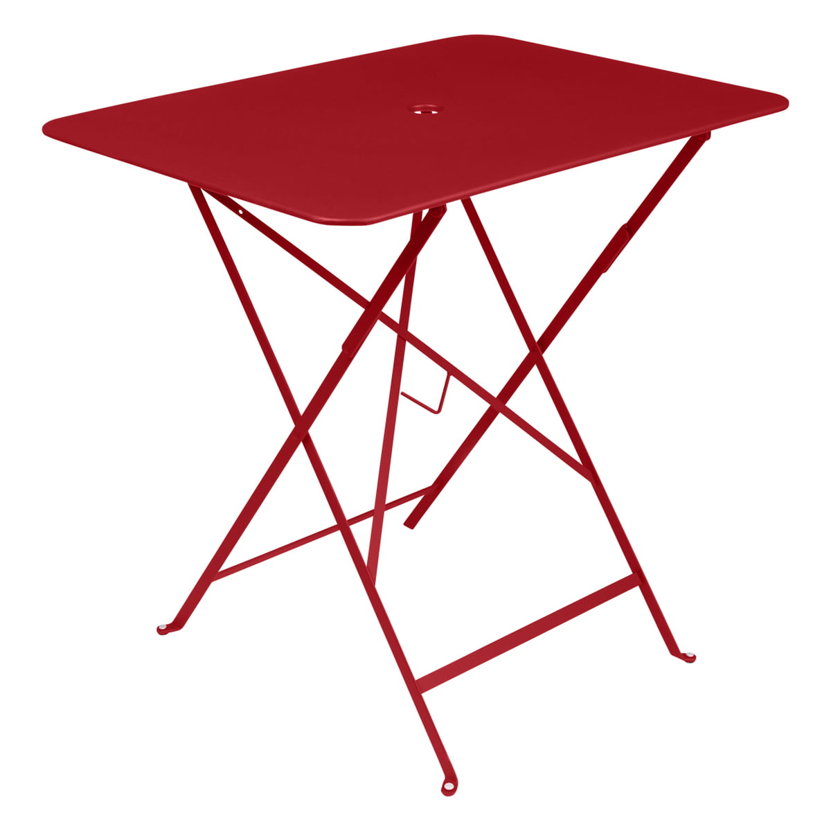 Merveilleux Bistro Folding Table, 77 X 57 Cm, From Fermob In Poppy Red