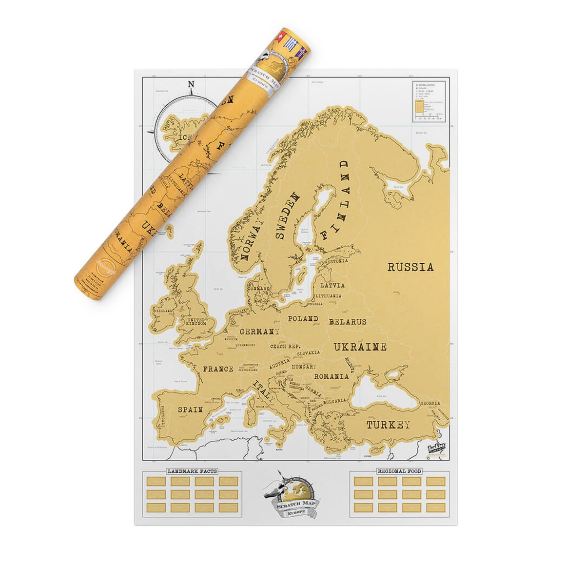 Map Of Europe And The Uk.Luckies Scratch Map Europe