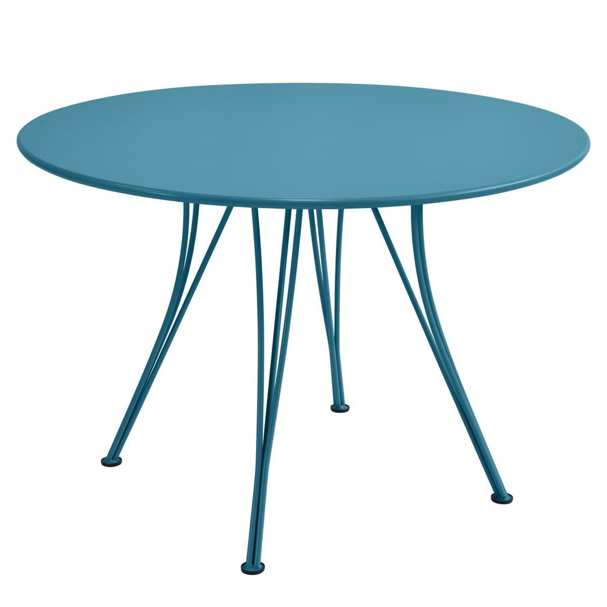 Gartentisch 110.Fermob Rendez Vous Table Round ø 110cm Turquoise