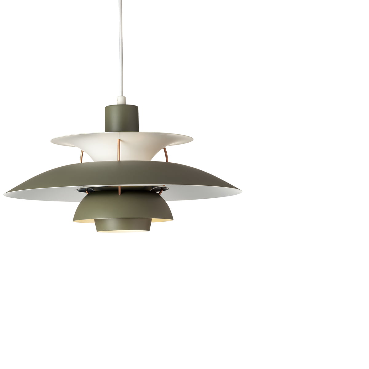 Ph 5 pendant light by louis poulsen louis poulsen ph 5 pendant lamp army green dark grey aloadofball Choice Image