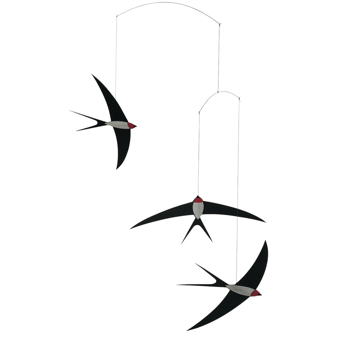 swallow mobile by flensted mobiles. Black Bedroom Furniture Sets. Home Design Ideas