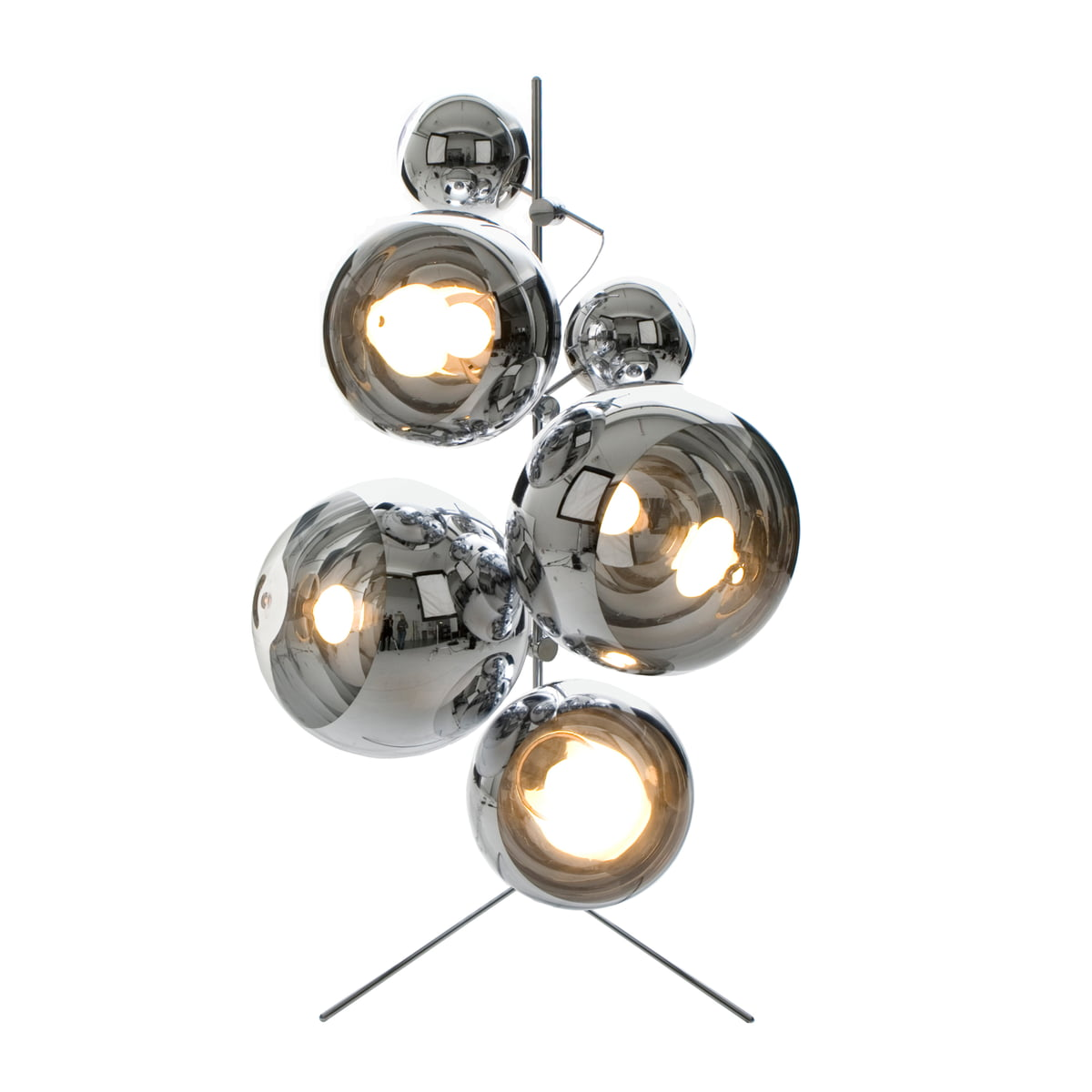 Mirror ball pendant lamp by tom dixon tom dixon light tripod stand mirror balls mozeypictures Images