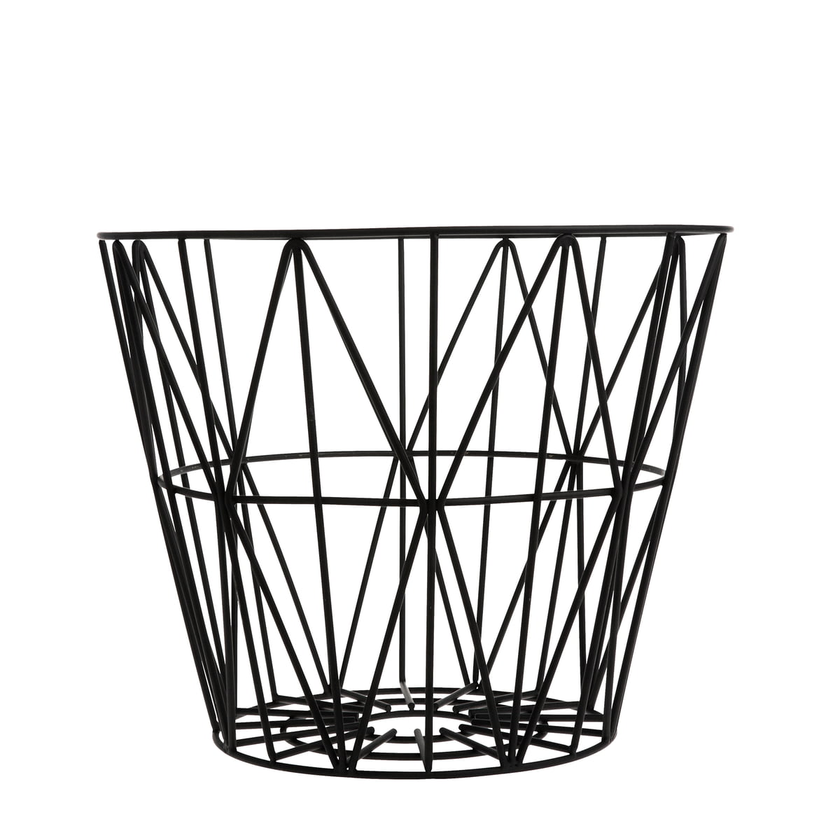 The small wire basket from ferm living ferm living wire basket small black greentooth Image collections