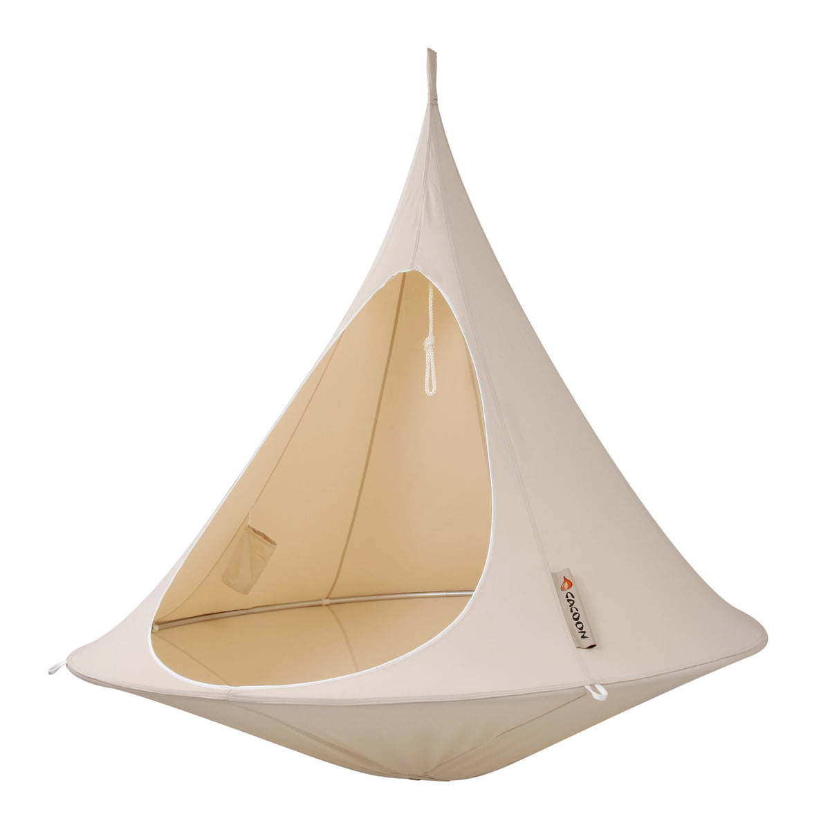 Cacoon   Double Hanging Chair, Natural White