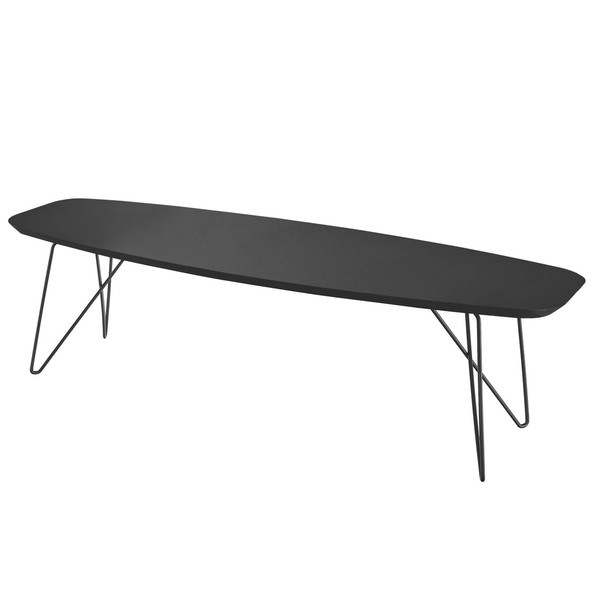 Zanotta ink couch table im shop zanotta ink side table 60 x 160 cm black greentooth Gallery