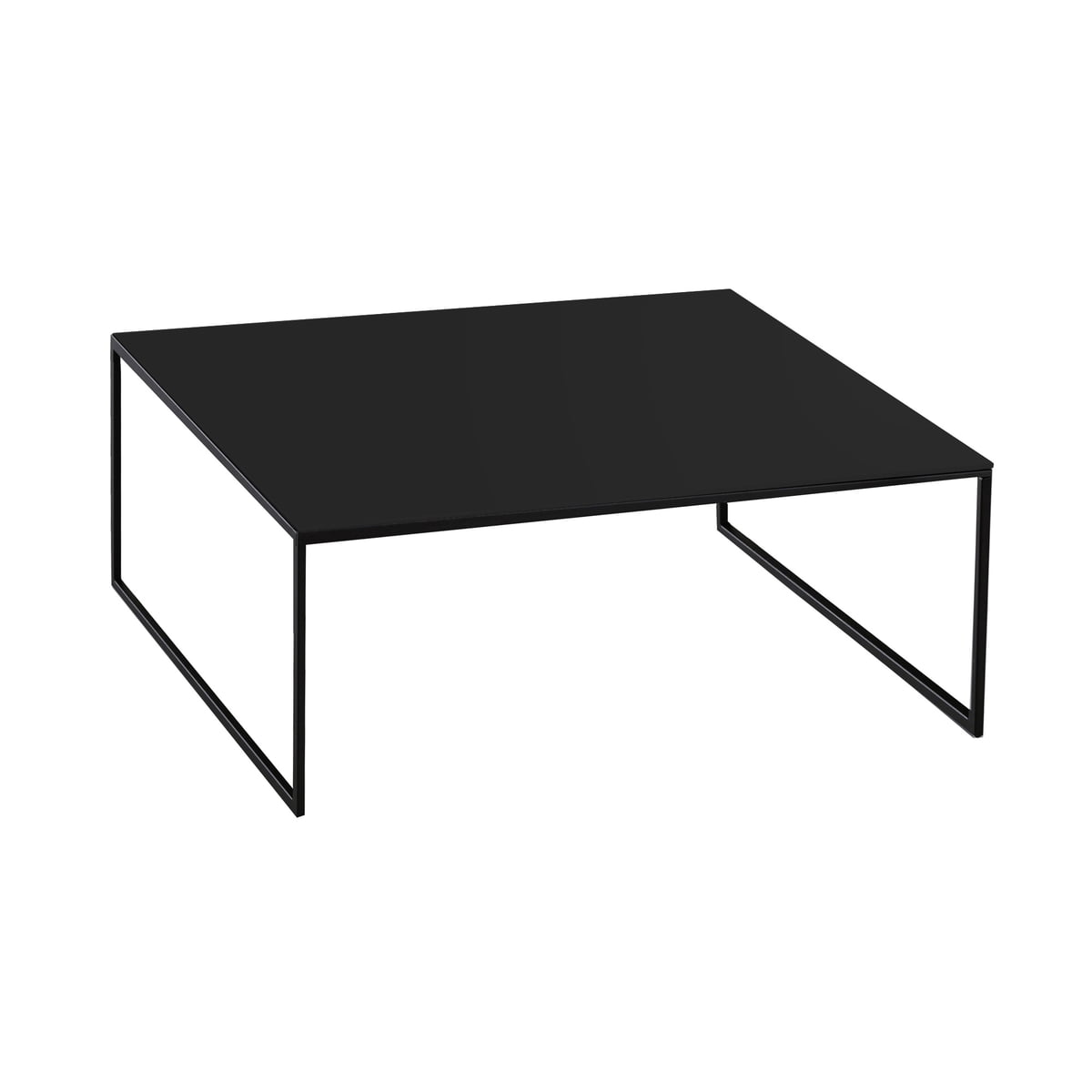 Less h 15 2 coffee table by hans hansen for Small black coffee table