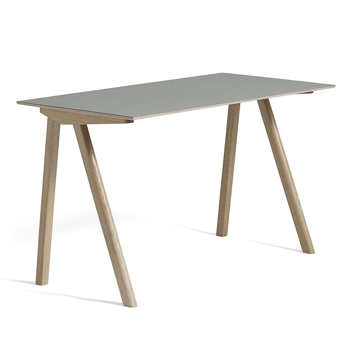 The copenhague desk cph90 by hay in the shop for Schreibtisch 130 x 80
