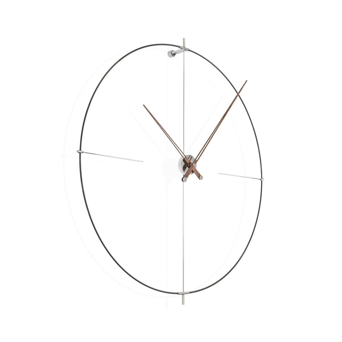 Bilbao wall clock by nomon in the shop bilbao wall clock by nomon in black made of walnut wood ccuart Image collections