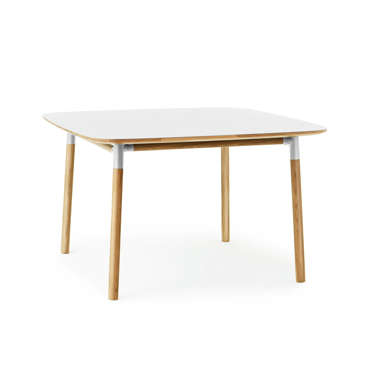 f696ae0008496 Form table 120 x 120 cm by Normann Copenhagen made of oak in white