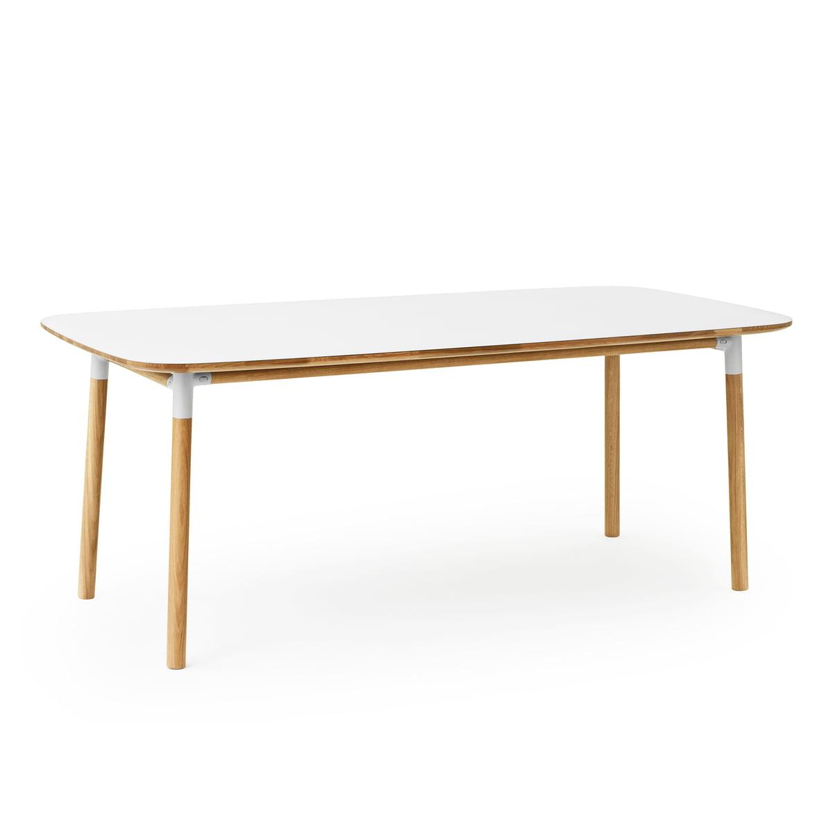 Wunderbar Form Table 95 X 200 Cm By Normann Copenhagen Made Of Oak In White