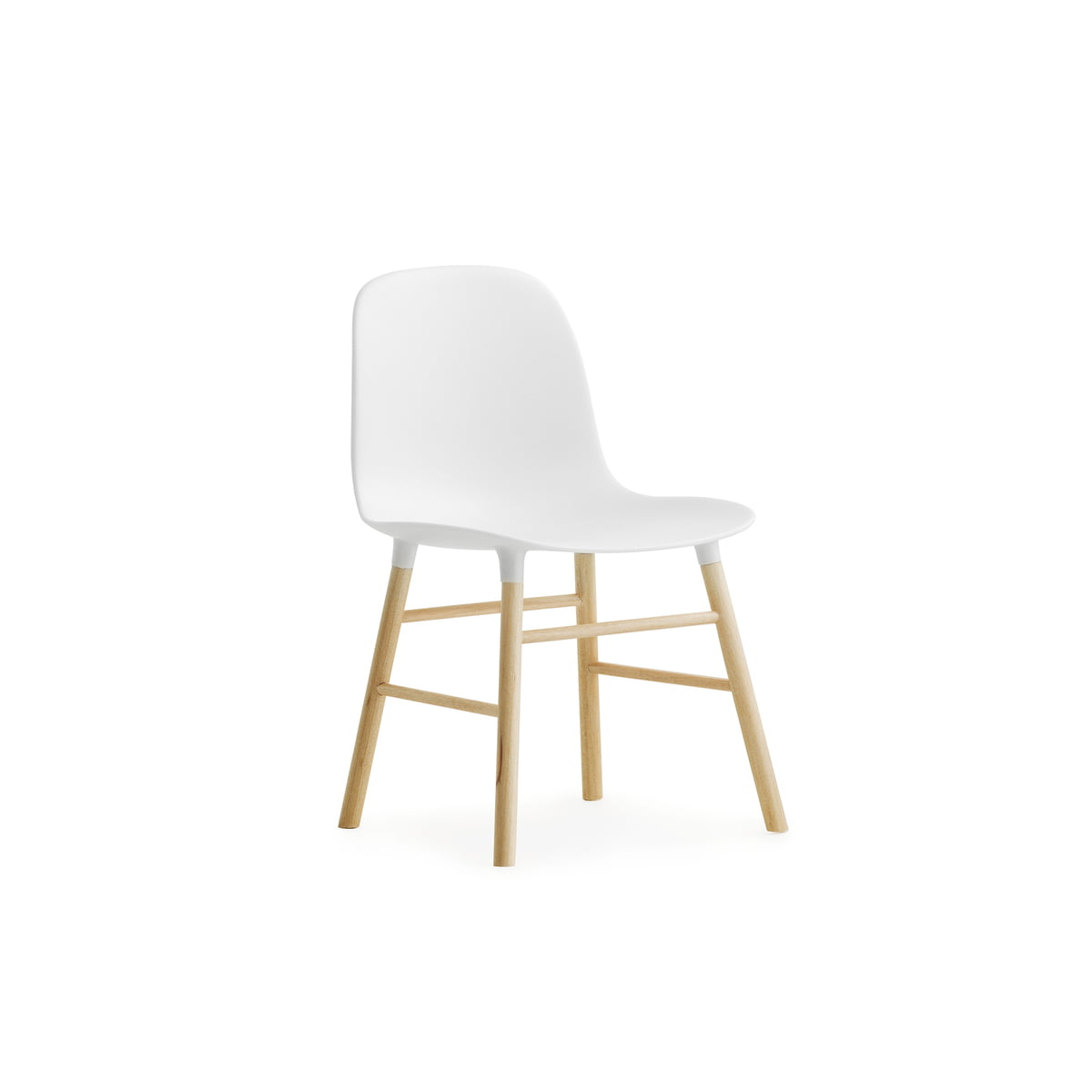 Incroyable Form Chair Miniature By Normann Copenhagen Made Of Oak In White