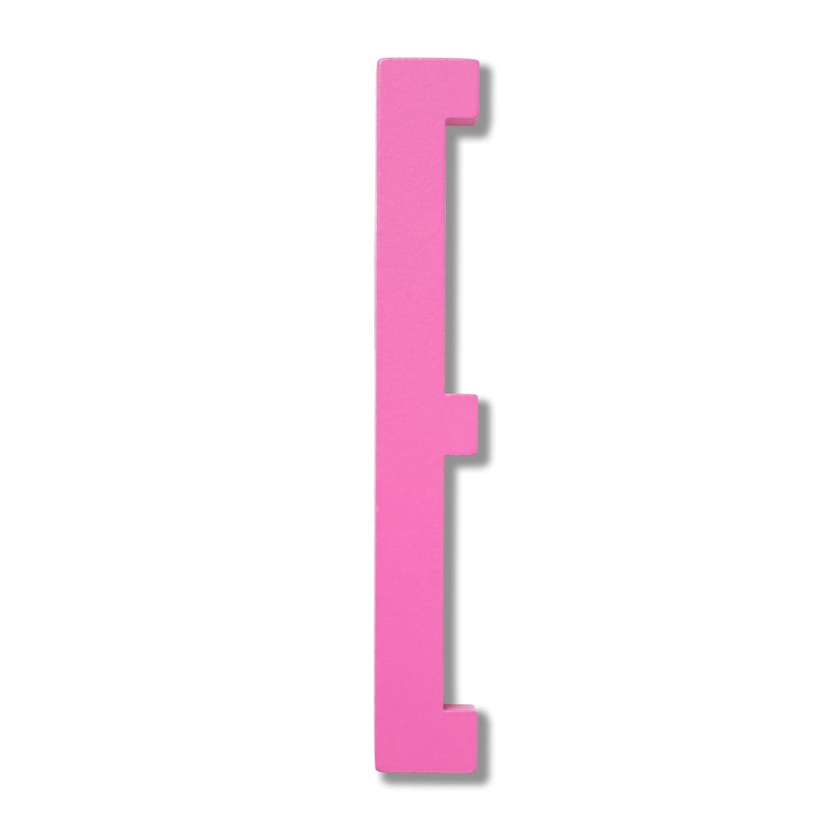 Design Letters - Wooden Letters Indoor E, pink