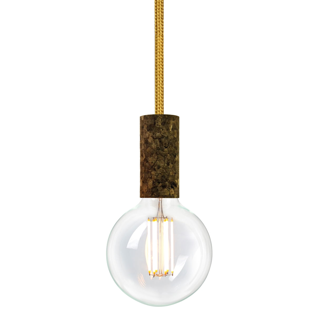 Cork lamp by nud collection at the shop cork soil gold spire tt 150 by nud collection with bulb aloadofball Images