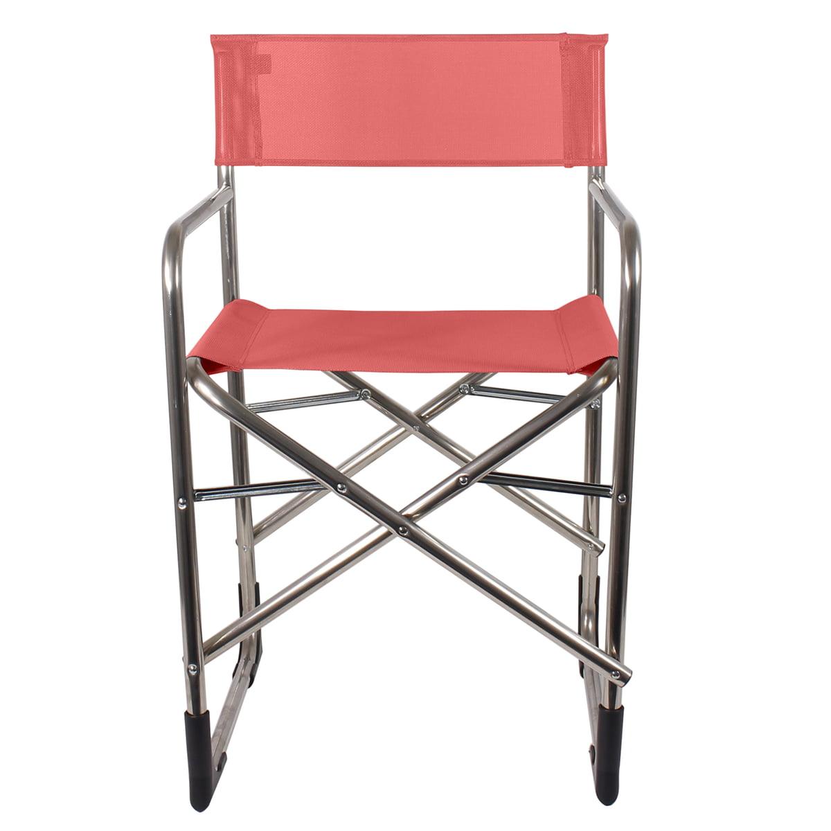 Fiam   Aluminium Directoru0027s Chair, Red