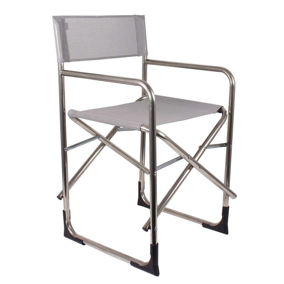 Fiam   Aluminium Directoru0027s Chair, Grey