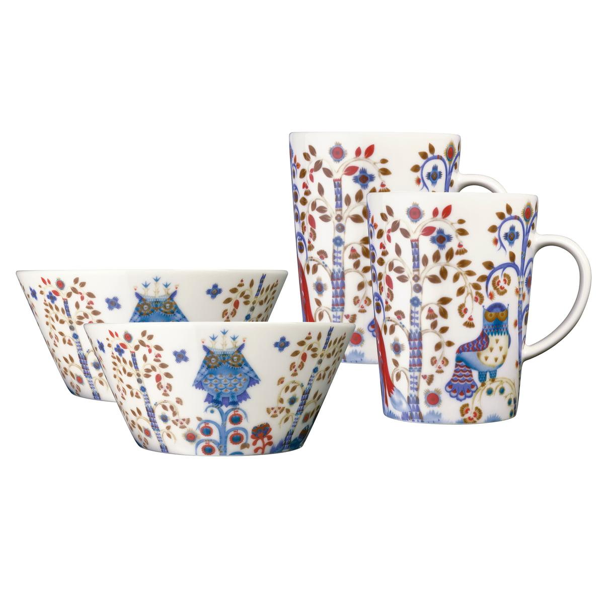 Iittala - Taika white Mug \u0026 Bowl Set (4 pcs.)  sc 1 st  Connox Interior Design Shop & Taika - white from Iittala in the shop