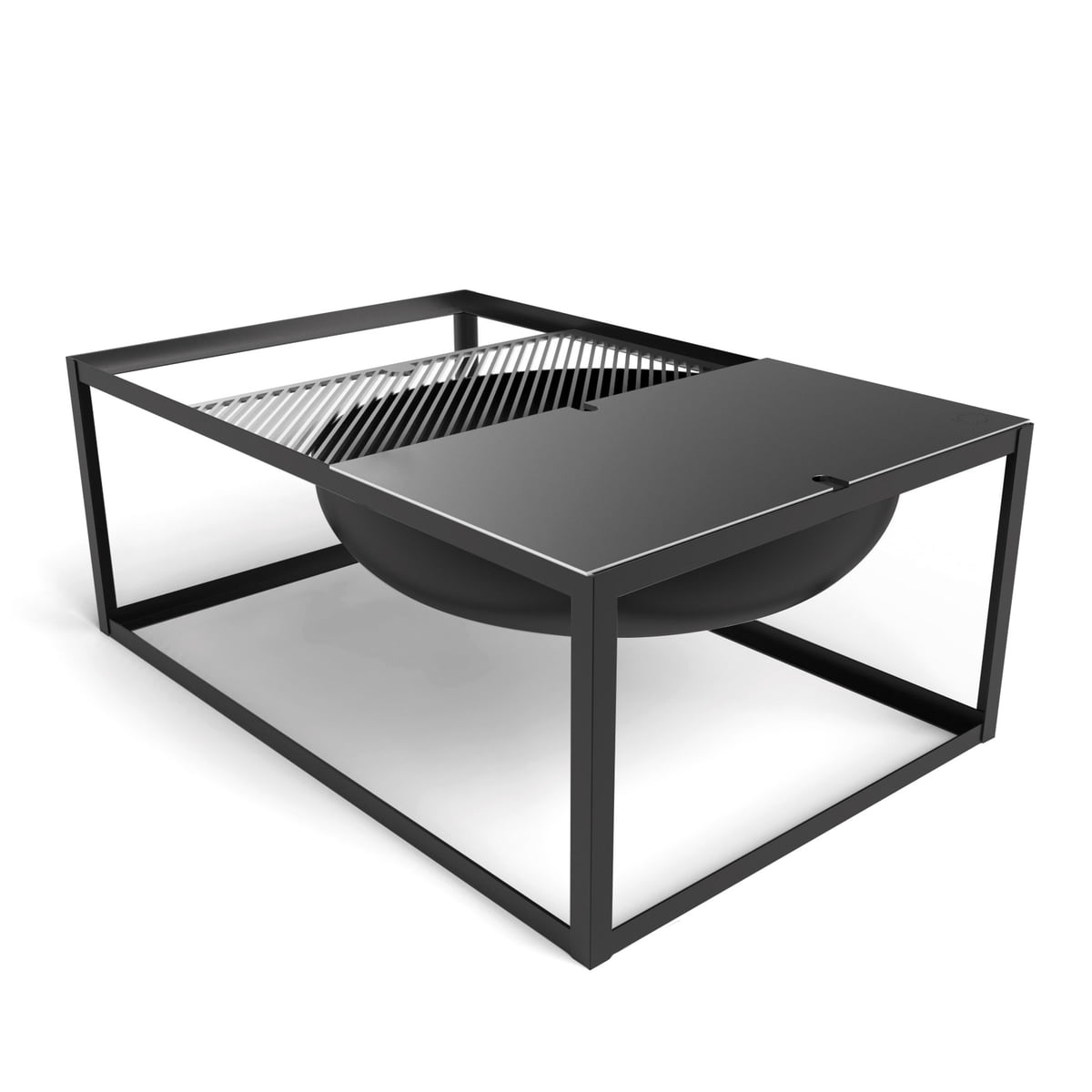 slide brazier with grill by konstantin slawinski. Black Bedroom Furniture Sets. Home Design Ideas
