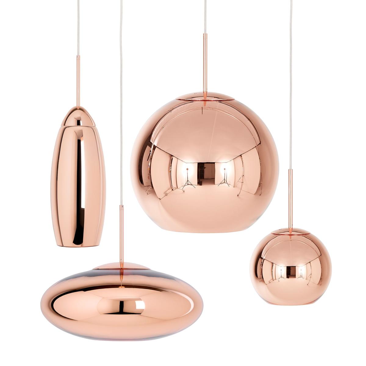 Copper Wide Pendant Lamp By Tom Dixon