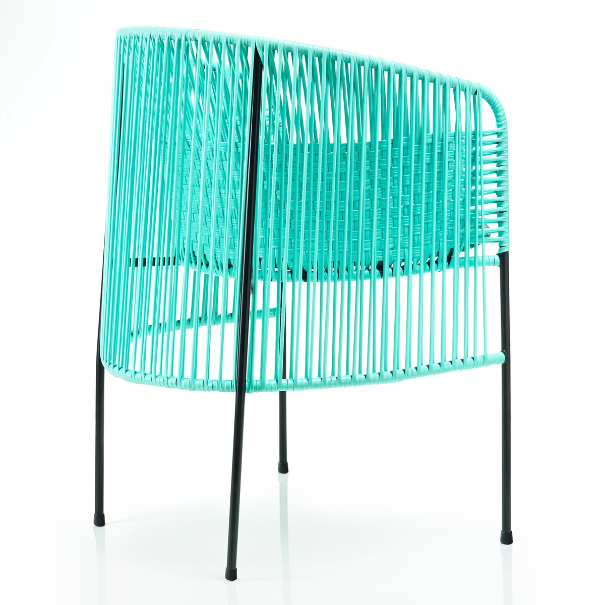 Ames   Caribe Dining Chair, Mint / Green / Black