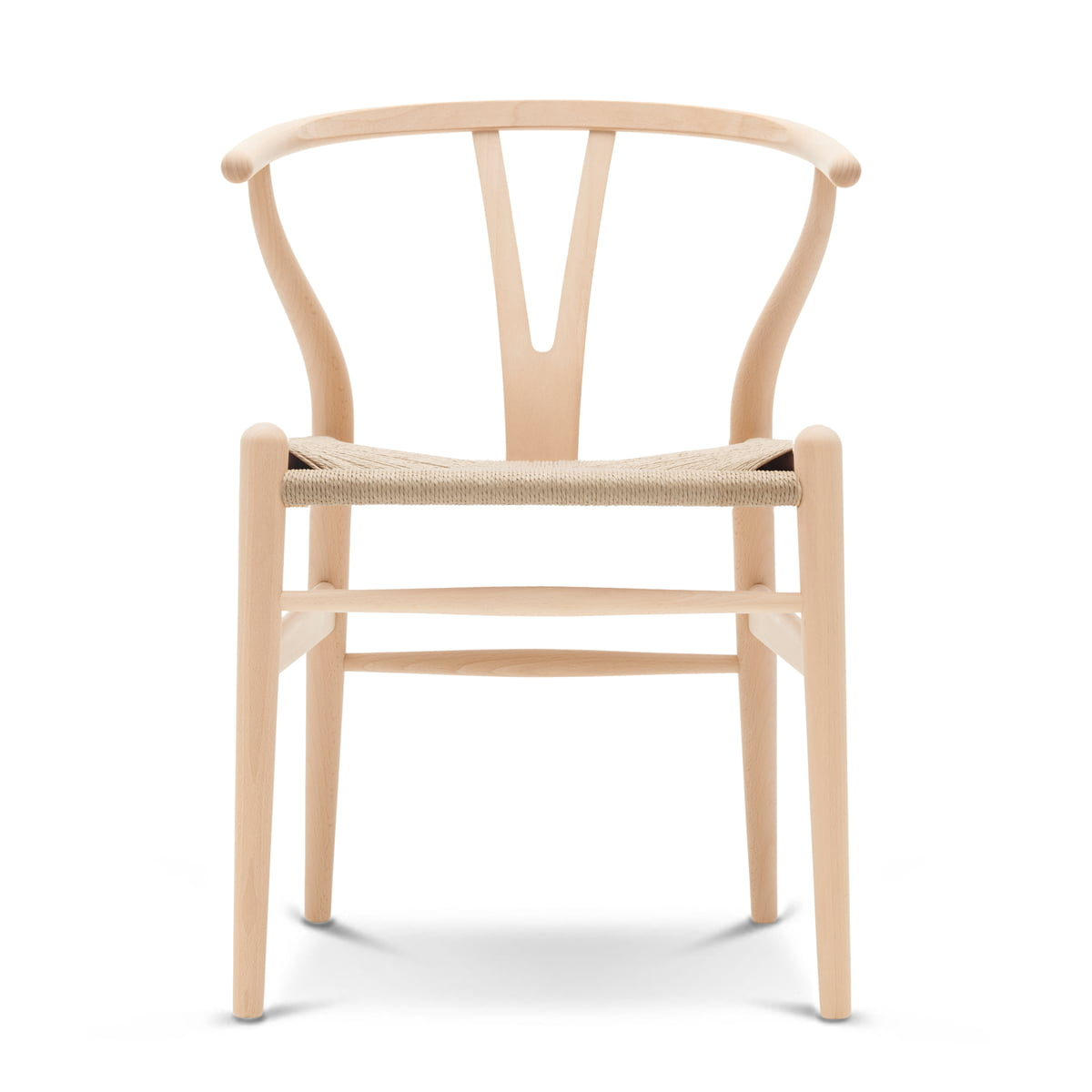 The ch24 wishbone chair by carl hansen in soaped beech natural wicker