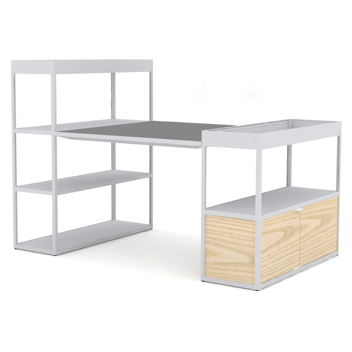 new order shelves with table by hay connox. Black Bedroom Furniture Sets. Home Design Ideas