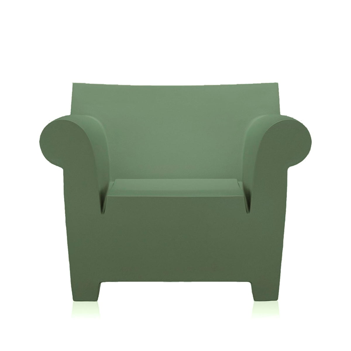 Bubble Club Fauteuil Kartell.Kartell Bubble Club Armchair Zinc White