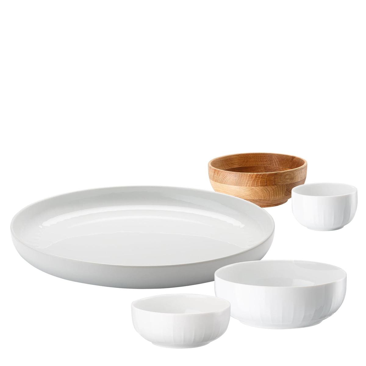 Arzberg - Joyn Dinnerware Set (5 pcs) in White  sc 1 st  Connox Interior Design Shop & White Dinnerware Set Joyn by Arzberg | Connox