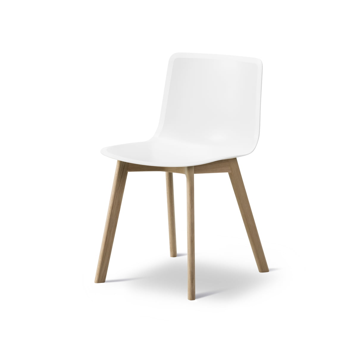Wood Base Chairs ~ Pato wood base chair by fredericia connox