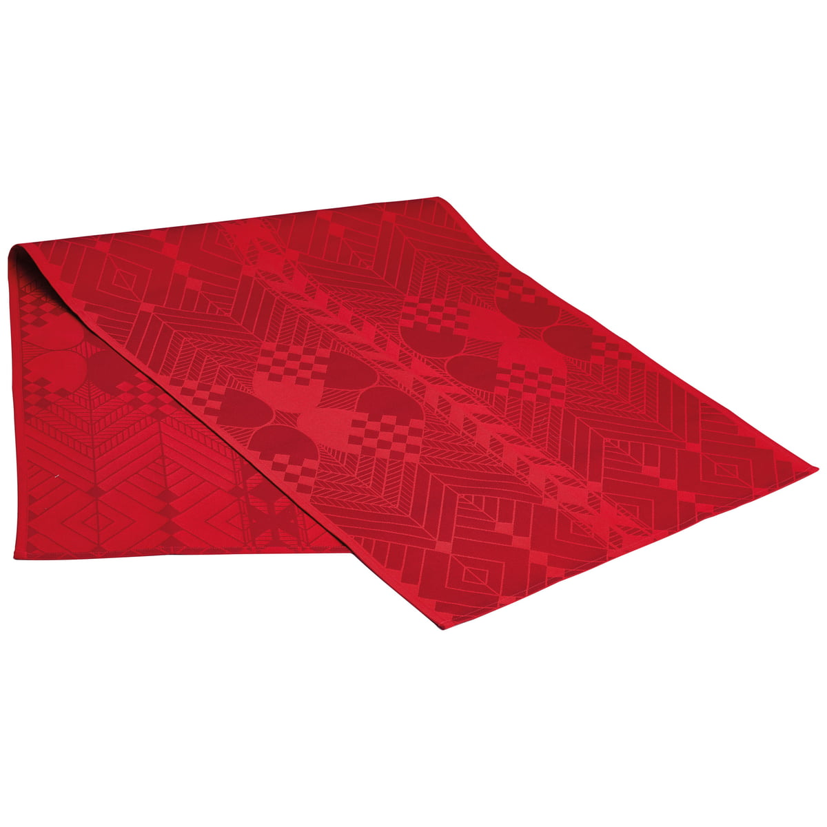 Christmas Table Runner Uk.Georg Jensen Damask Christmas Table Runner 50 X 140 Cm Deep Red