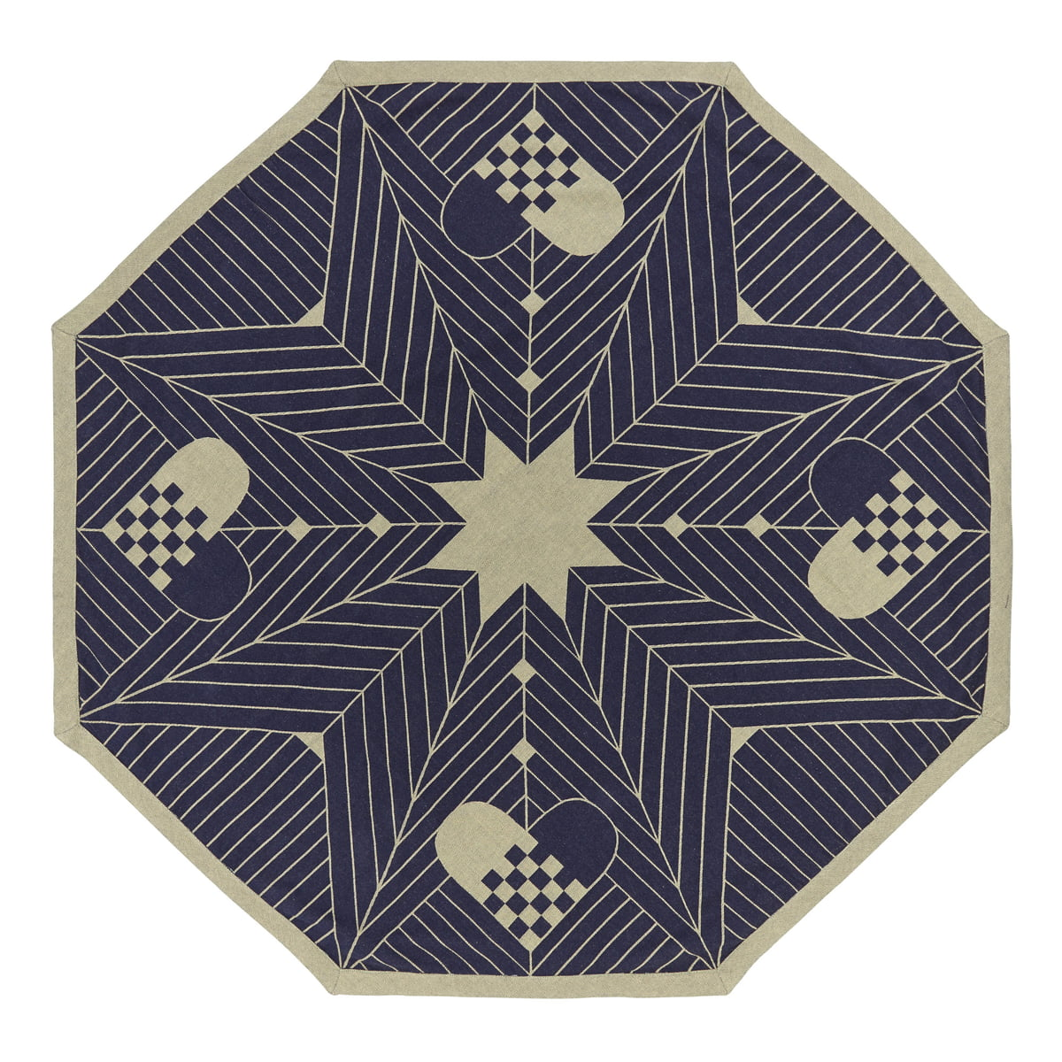 octagon christmas tree rug georg jensen. Black Bedroom Furniture Sets. Home Design Ideas