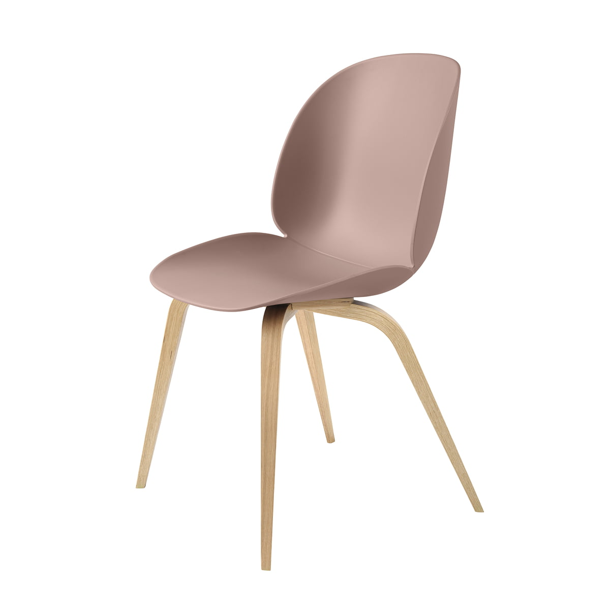 Beetle Dining Chair by Gubi : Gubi Beetle Dining Chair Wood Base Eiche sweetpink Freisteller from www.connox.co.uk size 1200 x 1200 jpeg 35kB