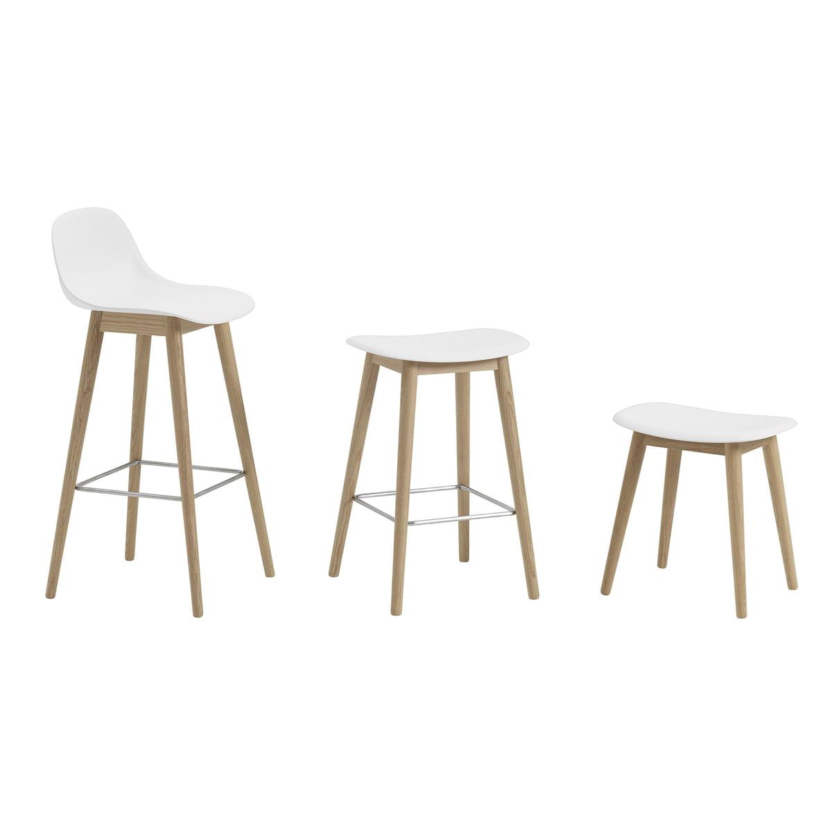 Superb Muuto Fiber Stool Wood Base Natural Oak White Beatyapartments Chair Design Images Beatyapartmentscom