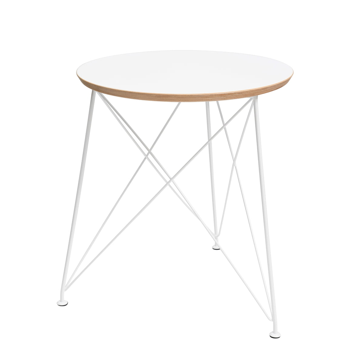 Wire side table connox collection brace round side table with steel frame keyboard keysfo