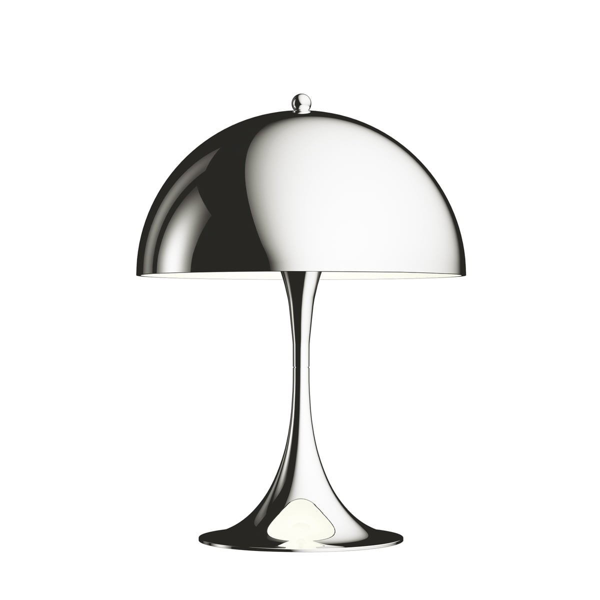 Panthella mini table lamp by louis poulsen the louis poulsen panthella mini table lamp 250 mirror finish chrome mozeypictures Choice Image