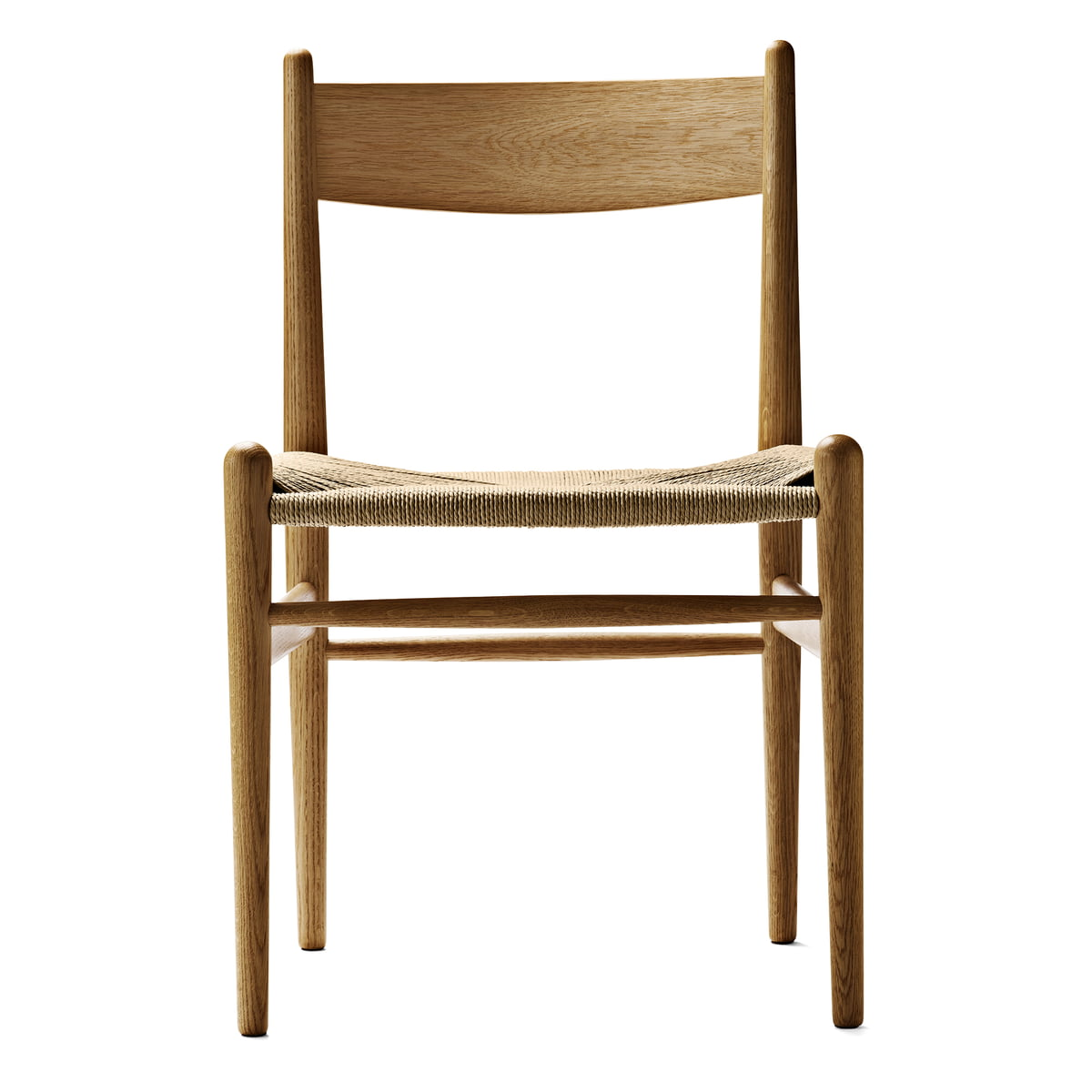 Schon Carl Hansen   CH36 Chair, Oiled Oak / Natural Woven Paper Cord