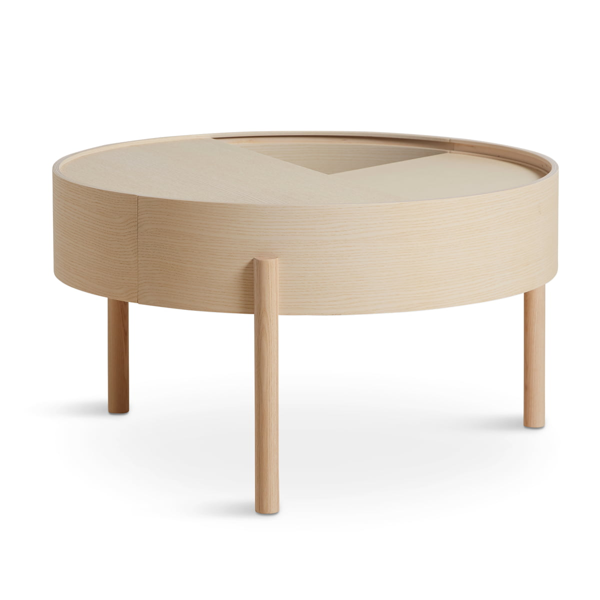 Marvelous Woud Arc Side Table O 42 Cm H 45 Cm Ash White Pigmented Uwap Interior Chair Design Uwaporg