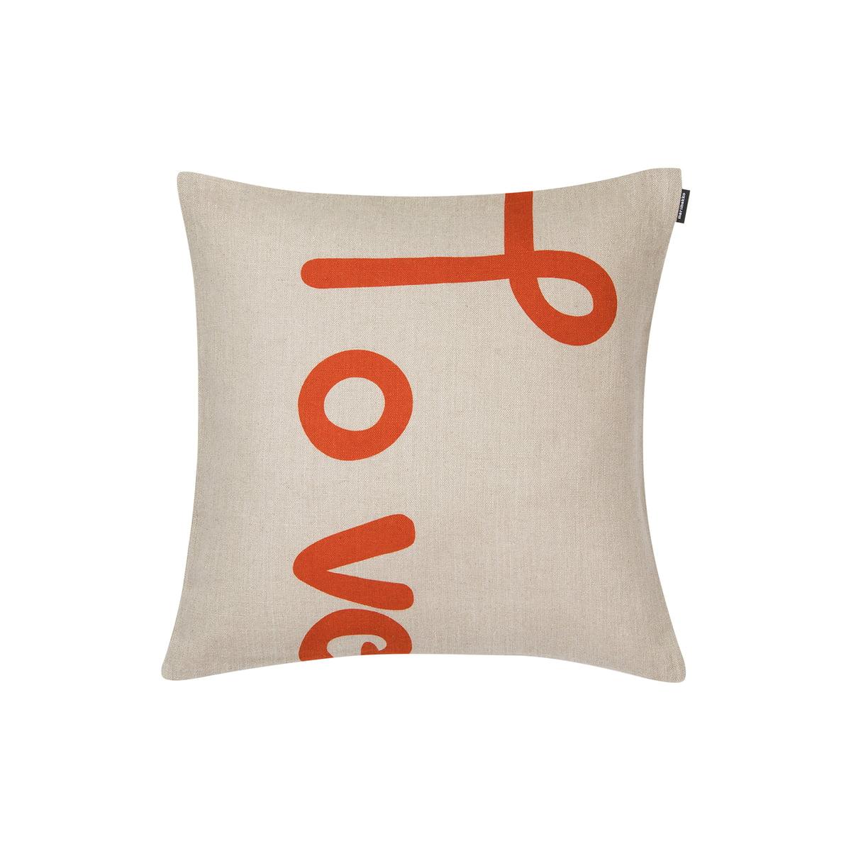 Marimekko Love Pillowcase 40 X 40 Cm Orange Beige Autumnwinter 2019