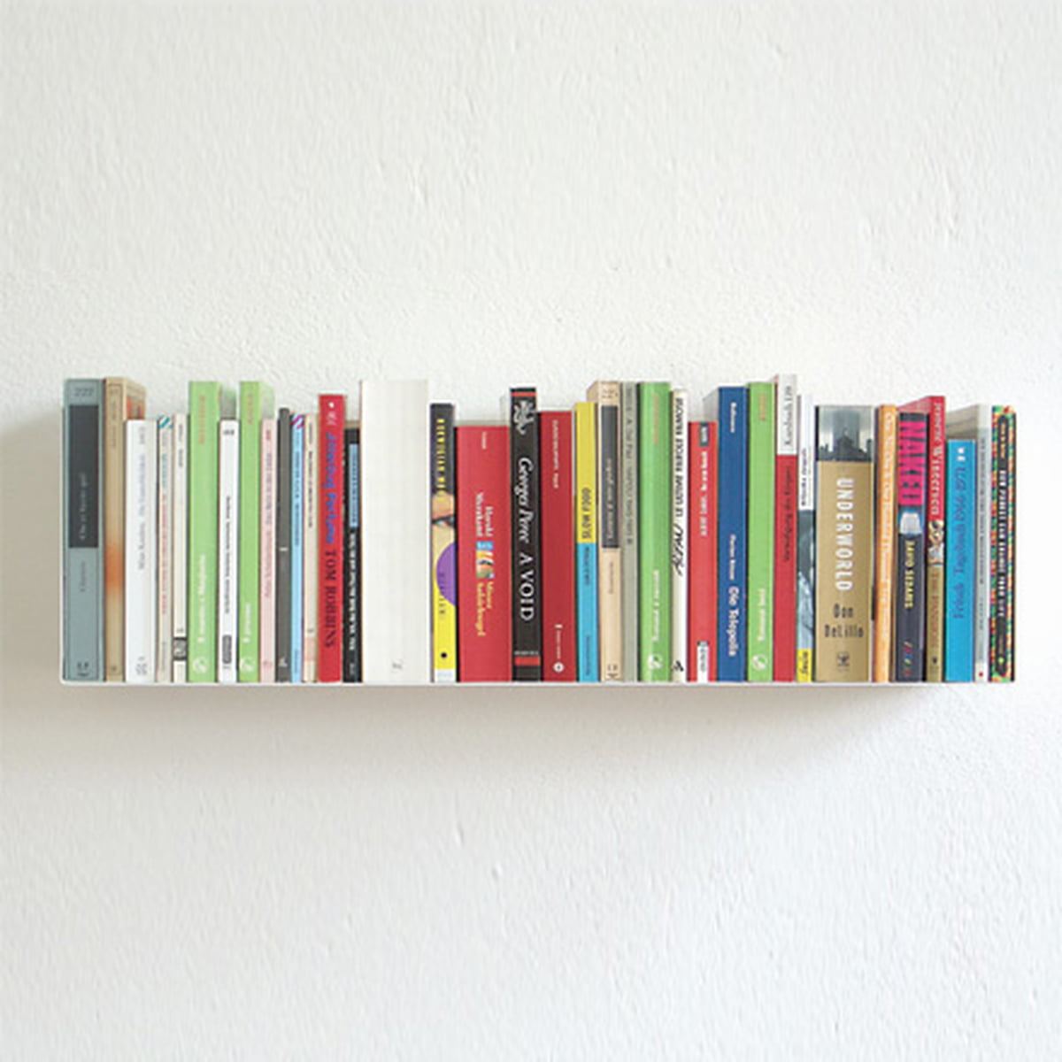Bookshelf With Books ~ Linea a paperback and dvd shelf in the shop