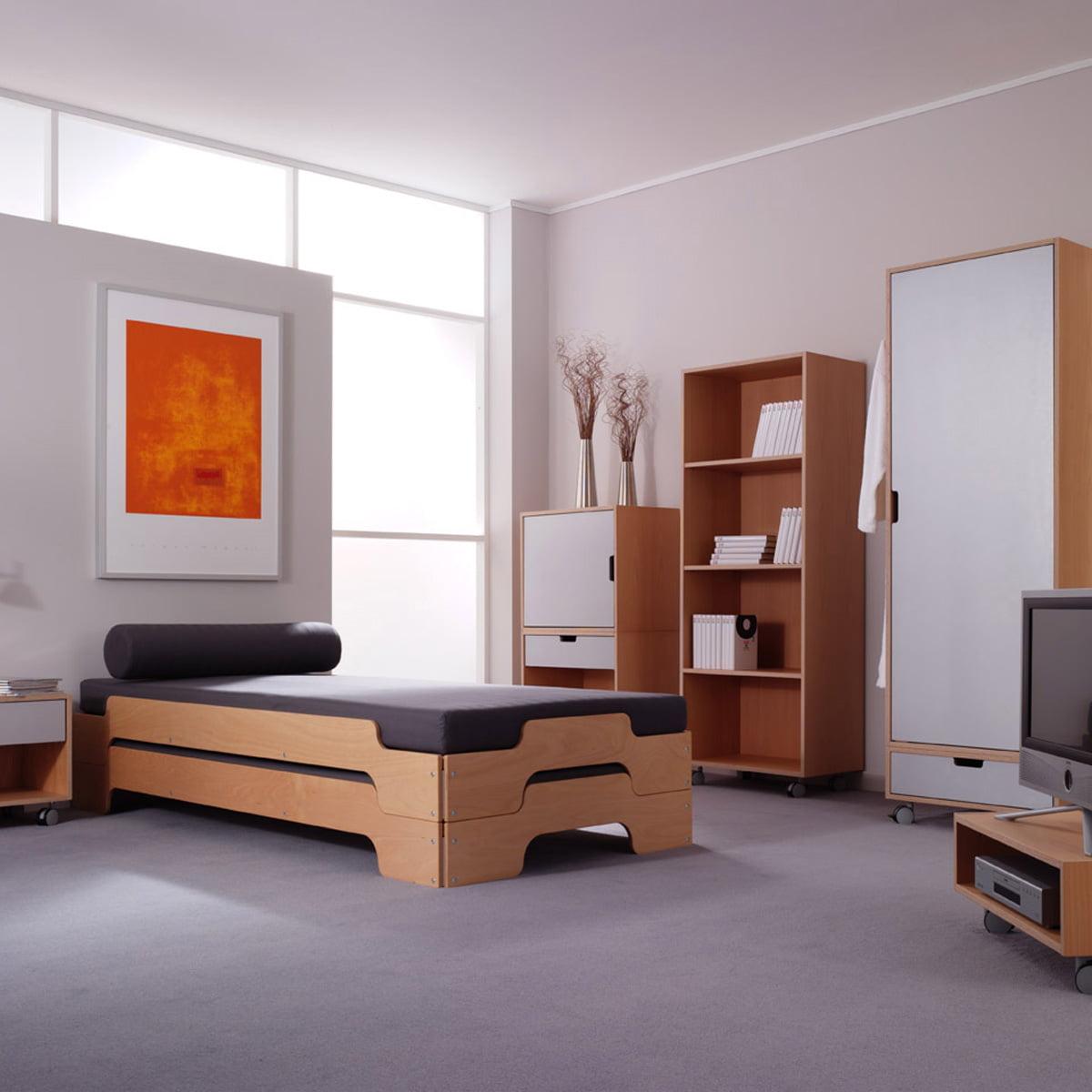 pile bed rolf heide shop. Black Bedroom Furniture Sets. Home Design Ideas