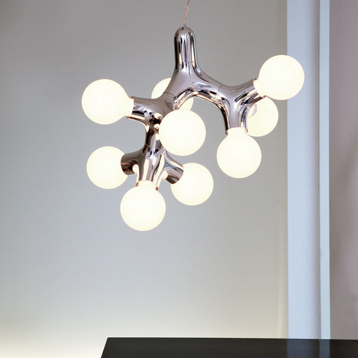 Dna pendant lamp by hopf wortmann for next next dna pendant lamp 0 1 2 chrome mozeypictures Images
