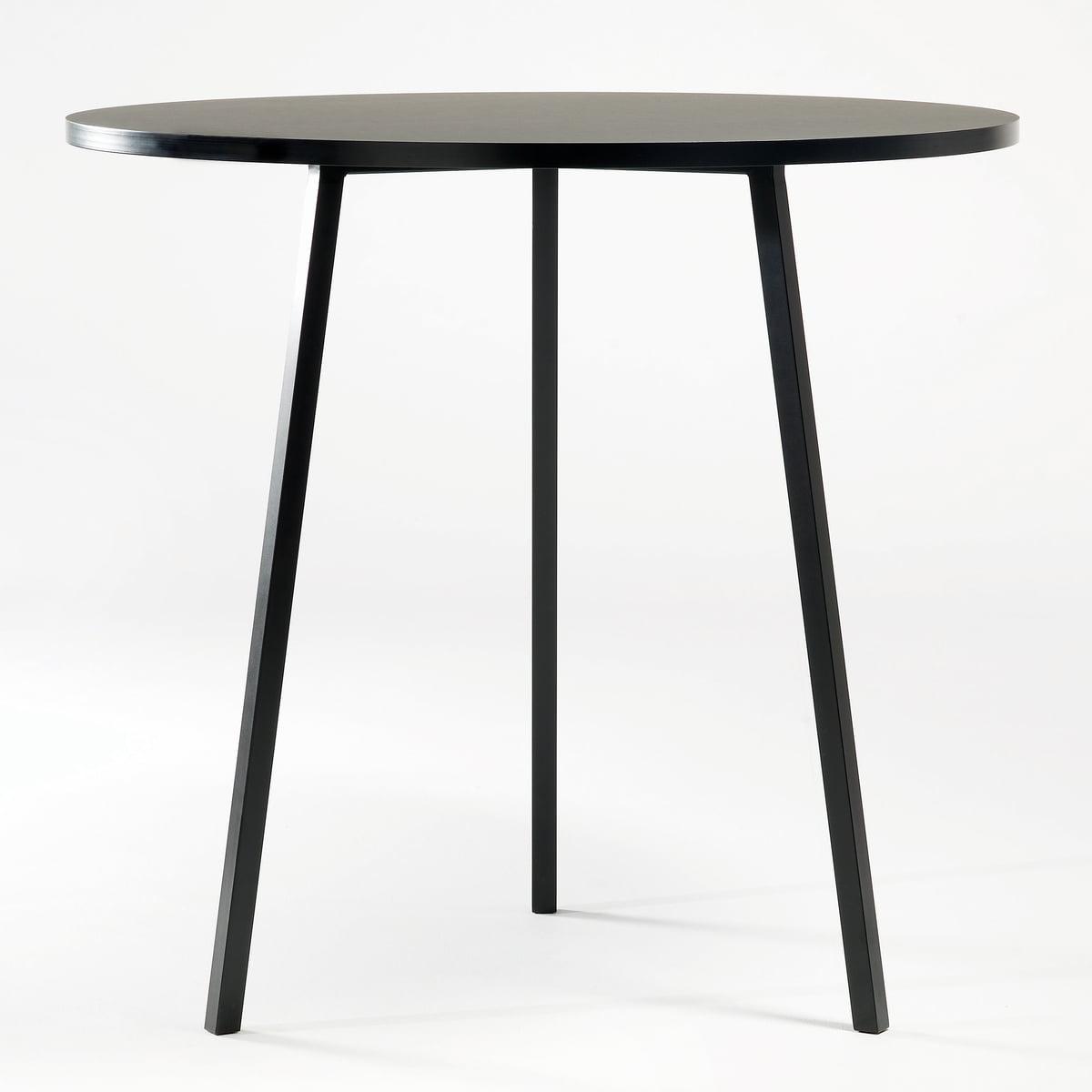 Hay   Loop Stand Bistro Table, Black