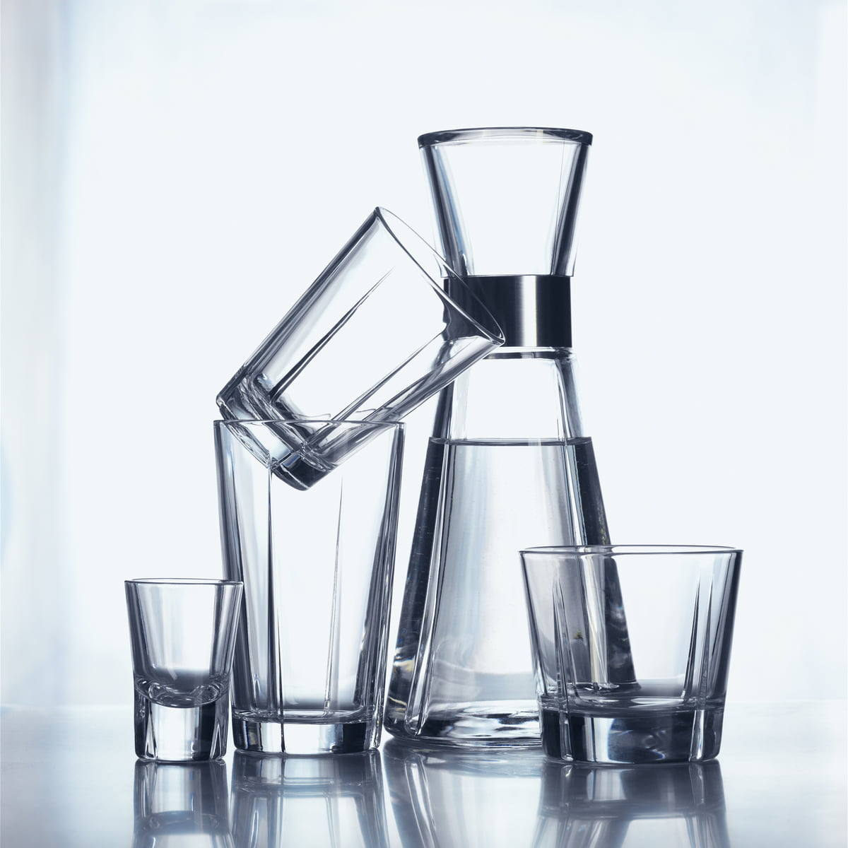 The Water Carafe with glasses by Erik Bagger